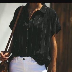 09b63c88465f2 ... Shirt Button down blouse Forever 21 Camel Blazer BUSINESS OR PLEASURE  COTTON BUTTON DOWN TOP BLACK ...